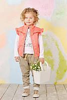 Детская жилетка для девочки демисезонная (Персик) (К03-00475-0)