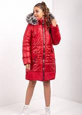 Дитячий зимовий комбінезон для дівчинки №10, 134-152р., натуральне хутро, фото 2