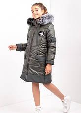 Дитячий зимовий комбінезон для дівчинки №10, 134-152р., натуральне хутро, фото 3