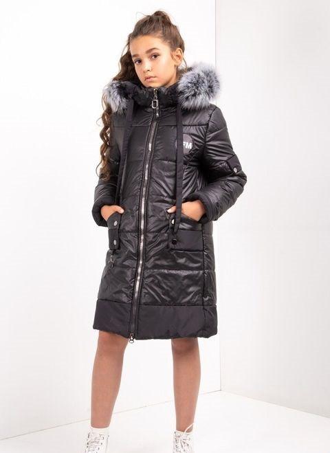 Дитячий зимовий комбінезон для дівчинки №10, 134-152р., натуральне хутро