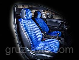 Накидки на сидения CarFashion Мoдель: CITY  Синий-синий (21453)