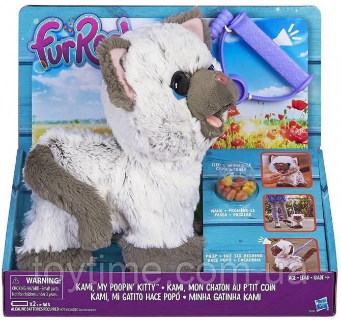 Мягкая игрушка Котенок Ками с аксессуарами FurReal Friends Kami My Poopin Kitty Plush