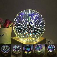 Ночник Сияющая Звезда небо 3d волшебный стеклянный шар Сфера . Романтическая сказка фейерверк