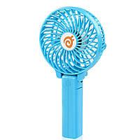 Портативный USB мини-вентилятор с аккумулятором Portable Mini Fan S02 Blue