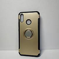 Чехол для Huawei P20 Lite, бампер с подставкой и магнитной пластиной, цвет - золото