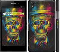 """Чехол на Sony Xperia Z1 C6902 3D скелет """"2868c-38"""""""