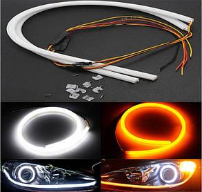 Дневные ходовые огни SL LED, гибкая лента с указателем поворота в фары 85 см., фото 2
