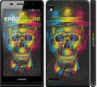 """Чехол на Huawei Ascend P6 3D скелет """"2868c-39"""""""
