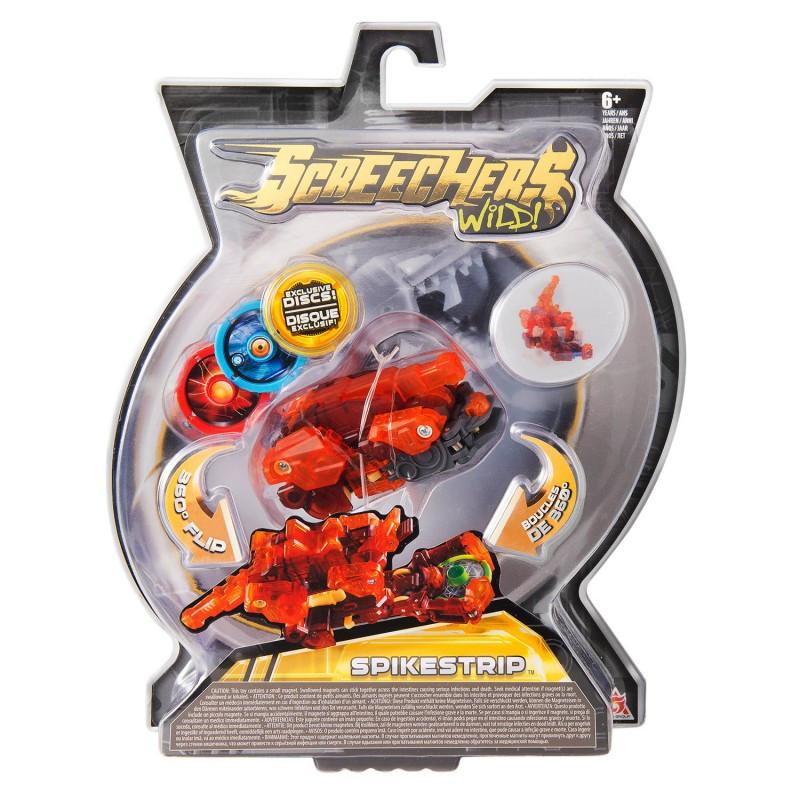 Дикий скричер Спайкстрип - Screechers Wild Spikestrip L2 (EU683125 Машинка-трансформер Стегозавр )
