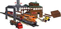 "Детская железная дорога игрушка, ""Power Train World - лесопилка"" (2083), Baisiqi"