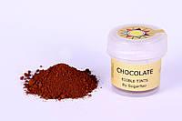 Краска сухая для цветов Sugarflair шоколад