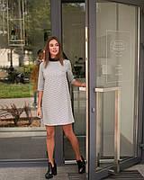 Короткое женское трапециевидное платье, фото 1