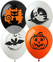 Шарик воздушный Хелоуин Halloween 4 шт