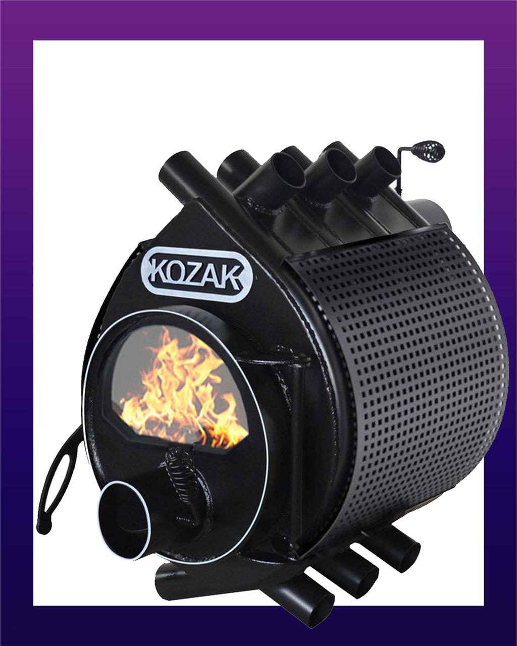 Піч-булерьян KOZAK 01 - 200 м3 + скло + кожух