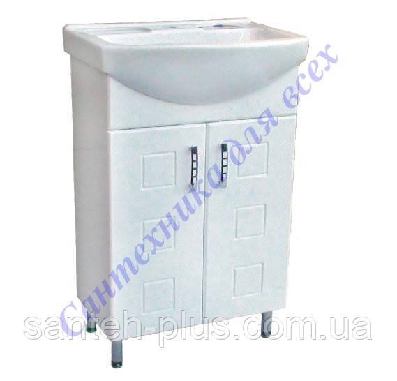 Тумба для ванной комнаты Кватро Т1 с умывальником Вега-50