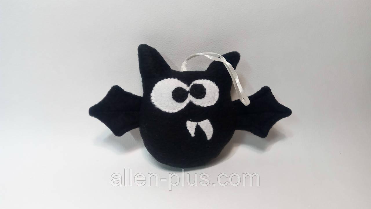 Игрушка ручной работы Летучая Мышь Черная (ФЛИС)