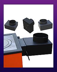 Переход Дымохода Прямоугольный 200х100 на круглый 150 мм. Maxiterm