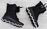 Ботинки молодежные зима на толстой подошве из натуральной кожи от производителя модель БС6020-2, фото 3