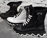 Ботинки молодежные зима на толстой подошве из натуральной кожи от производителя модель БС6020-2, фото 2