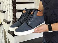 Зимние мужские ботинки, синие