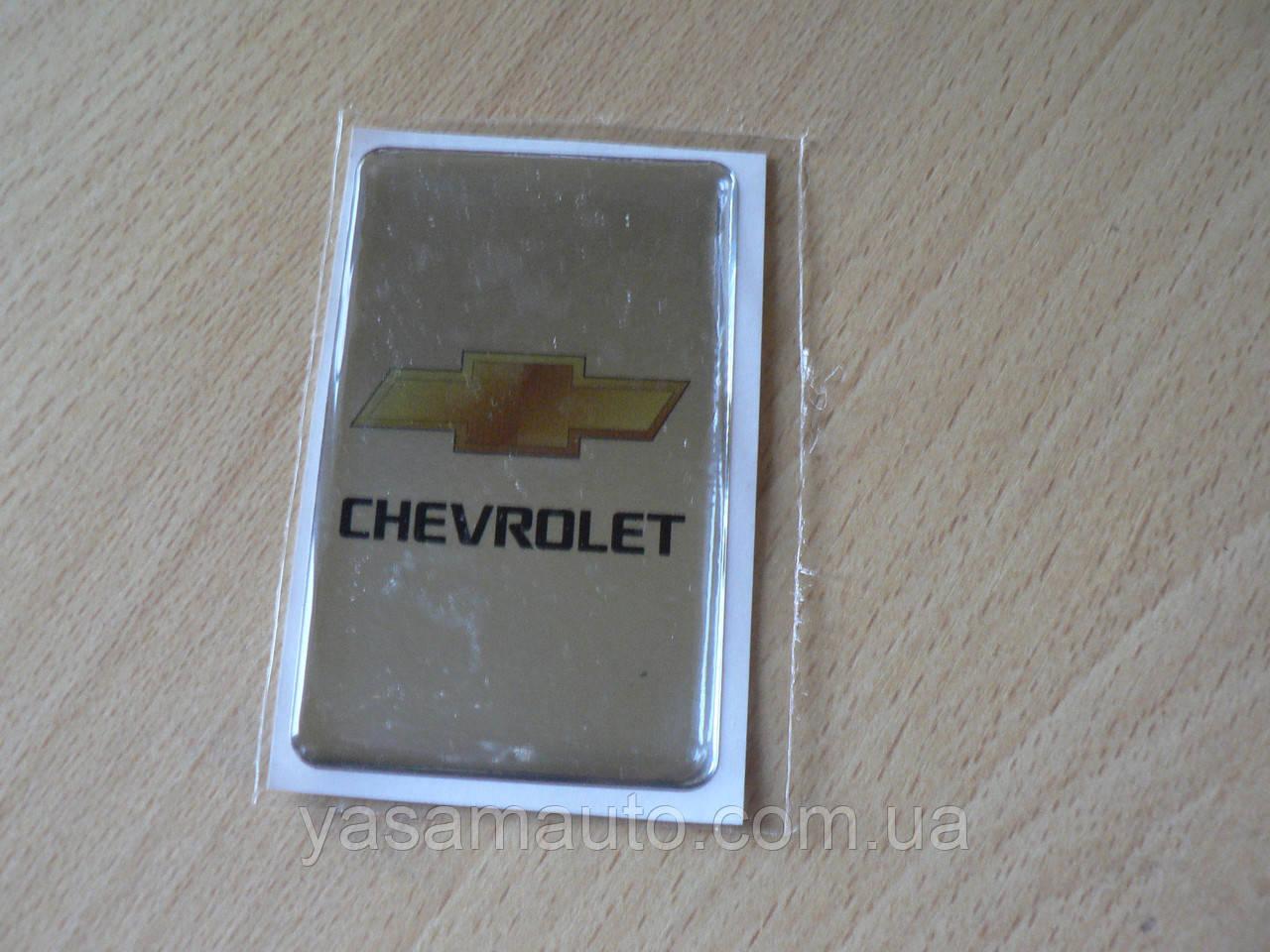 Наклейка s надпись Chevrolet 50х80х1мм хром силиконовая полоска на авто эмблема Шевролет Шевроле медальон
