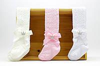 Колготки с аксессуарами и рельефным узором для девочки 3-4 года 5489612730178