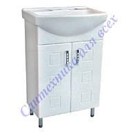 Тумба для ванной комнаты Кватро Т1 с умывальником Изео-55