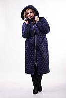 Зимнее фиолетовое пальто большого размера (с 50 до 60 размера)