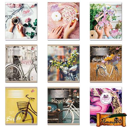 Тетрадь 60 листов клетка Цветы, пирожные, напитки, велосипеды и т.д. (1 Вересня, Тетрада, Бриск, Зошит Украины, Аркуш, Yes), фото 2
