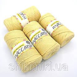 Эко Шнур Cotton Macrame, цвет Желтый