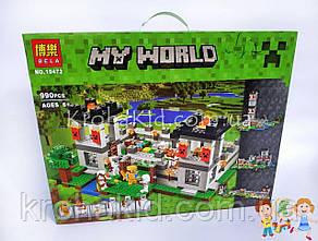 """Конструктор Minecraft Bela 10472 """"Крепость"""" (аналог Lego Minecraft ), 990 деталей, фото 2"""