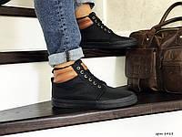 Мужские ботинки Vintage (черные) ЗИМА