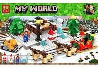 """Конструктор Minecraft Bela 11027 """"Прогулка на оленях"""" (Аналог Лего Майнкрафт) 375 деталей."""