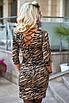 Платье трикотажное принт зебра, фото 4