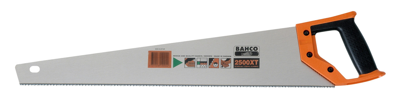 "Ножовка 600мм, 24"", для пиления фанеры, оргалита и ДСП,  BAHCO  2500-24-XT7-HP"