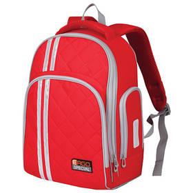 Рюкзак TIGER FAMILY школьный ортопедический для средней школы, универсальный, красный