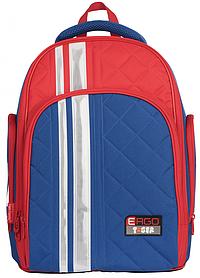 Рюкзак TIGER FAMILY школьный ортопедический для средней школы, универсальный, красно-синий