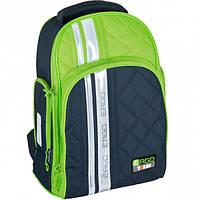 Рюкзак TIGER FAMILY школьный ортопедический для средней школы, универсальный, черно-зеленый