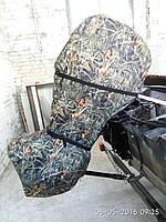 Транспортировочный чехол для лодочного двигателя до 15 сил камуфляж, фото 1
