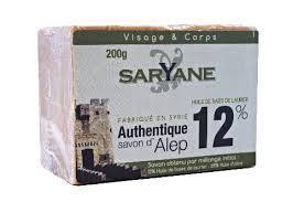 Алеппское мыло 12% лавра 200гр Saryane