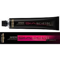 Краска для волос без аммиака L'Oreal Professionnel Diarichesse Hi-Visibility, 4,15 шоколадно-коричневый, 50 мл