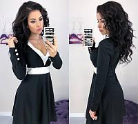 Платье женское дайвинг с V-вырезом, фото 1