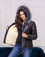 Куртка жіноча на хутрі у великому розмірі
