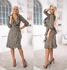 Женское платье из софта с воланами, фото 3