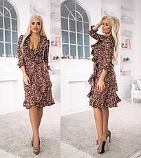 Женское платье из софта с воланами, фото 2