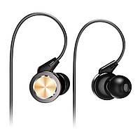 Senzer SE610 Sports Black (черный) HiFi наушники с микрофоном, 20-20кГц, 106 дБ, 16Ом, 10 мм титан драйвер