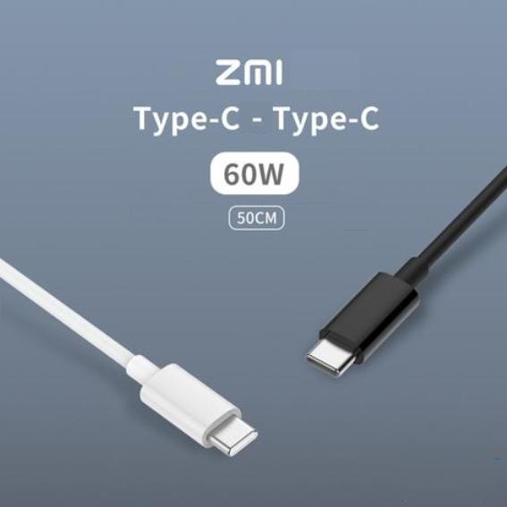 Кабель Xiaomi ZMI Type-C - Type-C Data TPE / 0.5 м 60W 3A / AL306