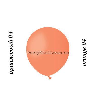 Воздушные шарики Gemar А50 пастель ОРАНЖЕВЫЙ