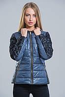 Трендовая куртка с кружевом (графит), разные цвета