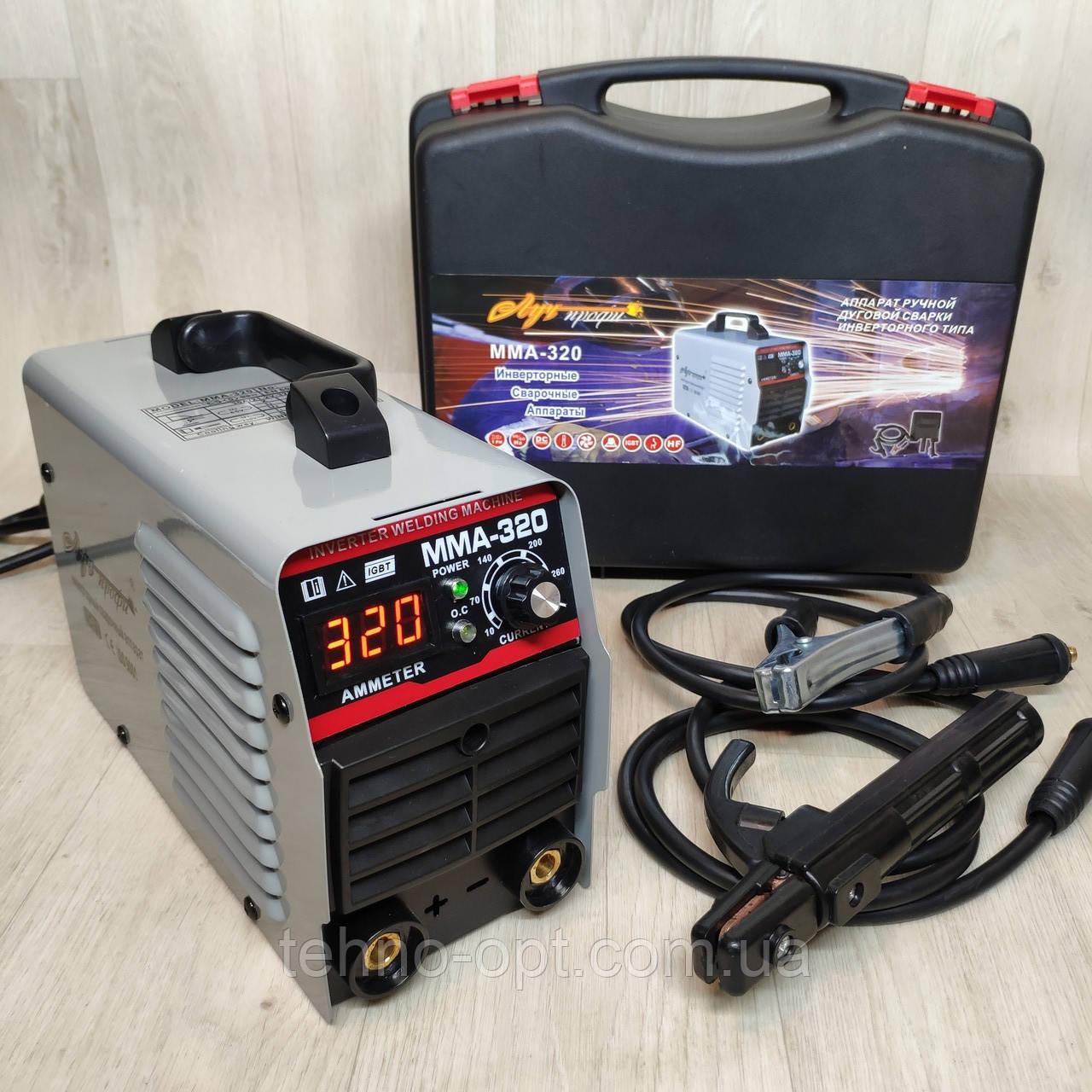 Сварочный инверторный аппарат Луч Профи MMA-320 (дисплей, кейс)